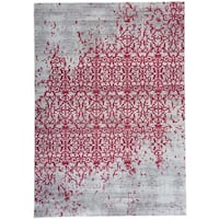 Red Vintage Distressed Area Rug - 5'3 x 7'4