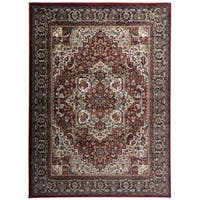 "Traditional Persian Oriental Design Area Rug - 5'3"" x 7'3"""