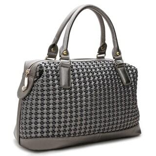 Rosewand Women's 'Tarija' Textured Mettalic Bag (Option: Silver)