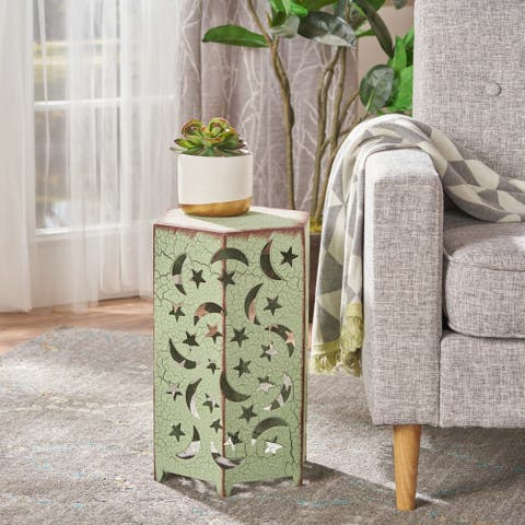 Cassie 12-inch Moon & Stars Side Table by Christopher Knight Home