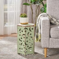 Cassie 12-inch Moon & Stars Iron Side Table by Christopher Knight Home