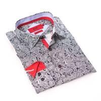 Elie Balleh Milano Italy Boy's Navy Dress / Casual Shirt