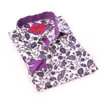 Elie Balleh Milano Italy Men's Purple Dress / Casual Shirt