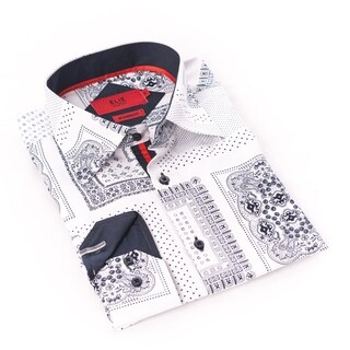 Elie Balleh Milano Italy Men's White Dress / Casual Shirt