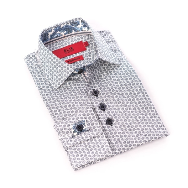 Elie Balleh Milano Italy Men's Grey Dress / Casual Shirt