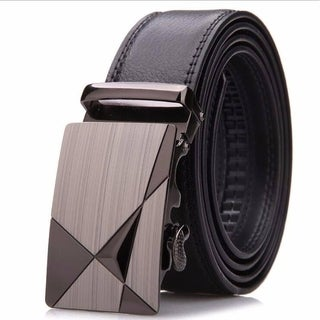 Men's Leather Ratchet Dress Belt with Automatic Buckle Adjustable Track Belt (up to 42 in.)