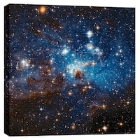 "Epic Graffiti ""LH 95 Star Cluster"" Hubble Space Telescope Giclee Canvas Wall Art, 12"" x 12"""