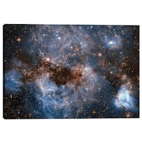 "Epic Graffiti ""Maelstrom Cloud"" Hubble Space Telescope Giclee Canvas Wall Art, 12"" x 18"""