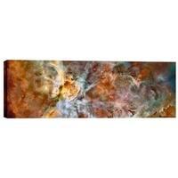 """Epic Graffiti """"Carina Nebula"""" Hubble Space Telescope Giclee Canvas Wall Art, 20"""" x 60"""""""