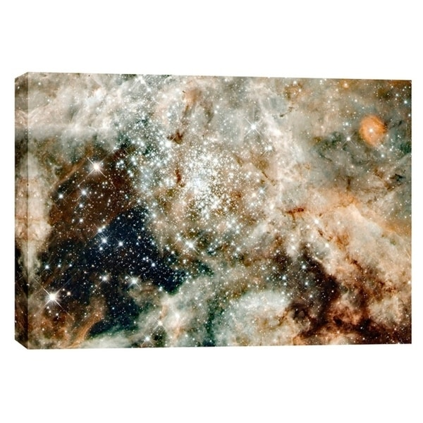 "Epic Graffiti ""30 Doradus"" Hubble Space Telescope Giclee Canvas Wall Art, 12"" x 18"""