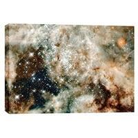 "Epic Graffiti ""30 Doradus"" Hubble Space Telescope Giclee Canvas Wall Art, 12"" x 18"""