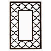 Carmen Mirror in Antique Brown Wood - Multi