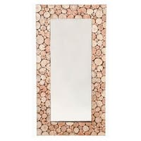 Sliced Rustic Multicolored Wood Mirror