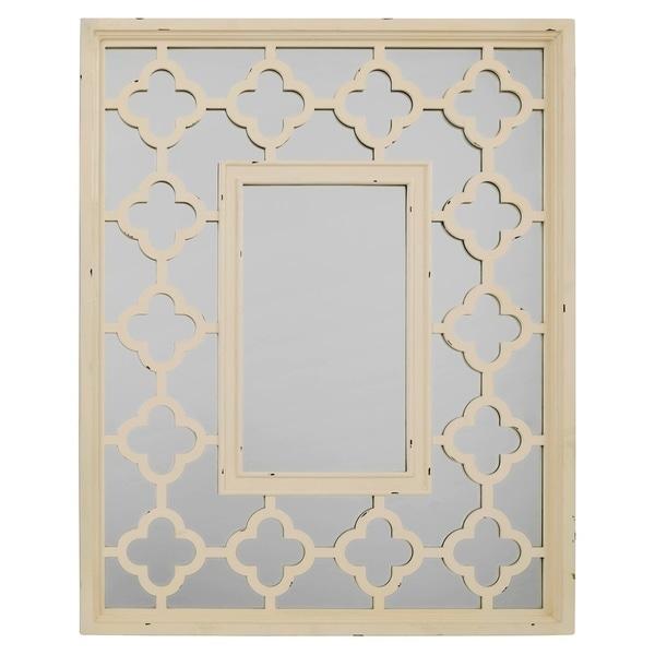 Quatrefoil Mirror - Off-White