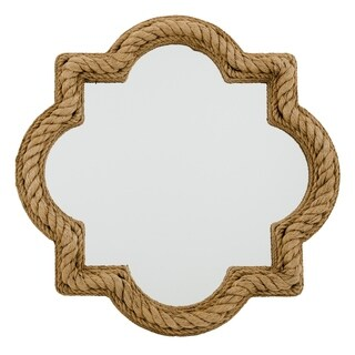 Alden Décor Quatrefoil Rope Mirror - Brown