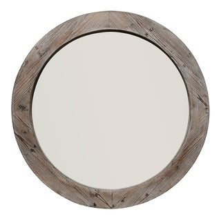 Grey and Brown Wood Handmade Mirror