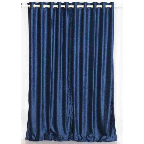 Shop Handmade Navy Blue Velvet Curtain- 1 Piece (India