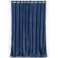 Navy Blue Ring / Grommet Top  Velvet Curtain / Drape / Panel  - Piece