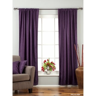 Purple Rod Pocket Velvet Curtain / Drape / Panel - Piece