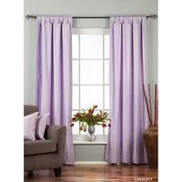 Lavender Tab Top  Velvet Curtain / Drape / Panel  - Piece