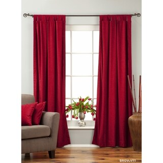 Burgundy Tab Top  Velvet Curtain / Drape / Panel  - Piece