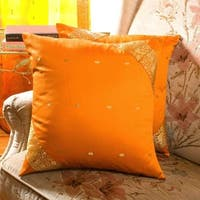 Mustard- handcrafted Cushion Cover, Throw Pillow case Euro Sham-6 Sizes