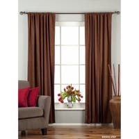 Brown Rod Pocket  Velvet Curtain / Drape / Panel  - Piece
