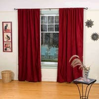 Burgundy Rod Pocket  Velvet Curtain / Drape / Panel  - Piece