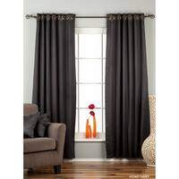 Black Ring / Grommet Top 90% blackout Curtain / Drape / Panel  - Piece
