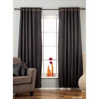 Black Ring / Grommet Top 90% blackout Curtain / Drape / Panel - Piece