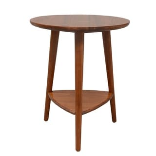 Porthos Home Double Pine Side Table with Oval Top