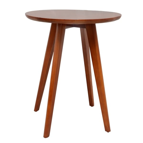 Porthos Home Solid Pine Round Top 4 Wooden Legs Side Table