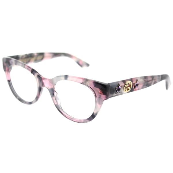 c154cb6c7 Gucci Fashion GG 0209O 003 Women Pink/Grey Havana Frame Eyeglasses