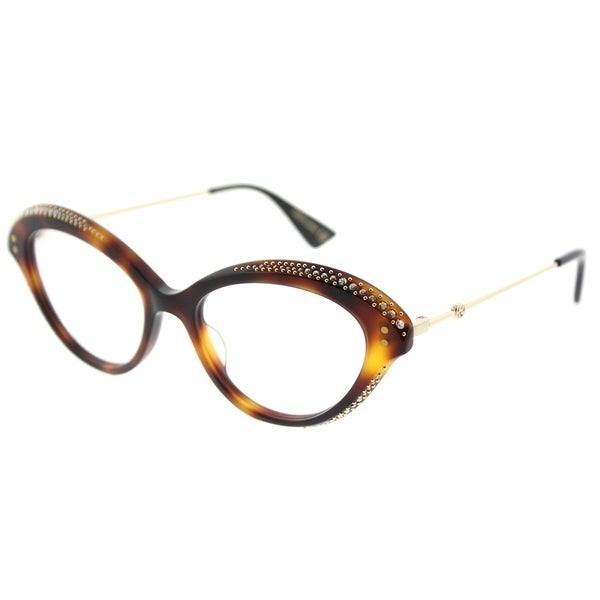 bed94bcd9992 Shop Gucci Cat-Eye GG 0215O 002 Women Havana Frame Eyeglasses - Free ...