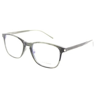 Saint Laurent Rectangle SL 186 S 003 Unisex Grey Frame Eyeglasses