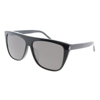 Saint Laurent Fashion SL 1/F Combi 002 Women Black Frame Black Lens Sunglasses