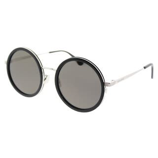 Saint Laurent Round SL 136 Combi 001 Unisex Black Frame Grey Lens Sunglasses|https://ak1.ostkcdn.com/images/products/18541730/P24647871.jpg?impolicy=medium