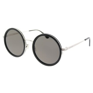 Saint Laurent Round SL 136 Combi 001 Unisex Black Frame Grey Lens Sunglasses