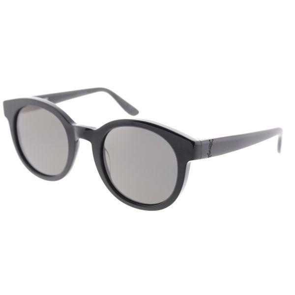 ffe1907c304 Saint Laurent Rectangle SL M15 001 Unisex Black Frame Grey Lens Sunglasses