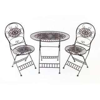 Bistro Table and Chairs Set - Brown