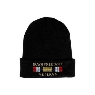 Iraqi Freedom Ribbon Veteran Knit Hat