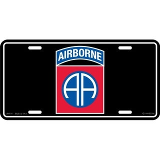 US Army 82nd Airborne Division License Plate