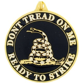 Don't Tread On Me Black Round Key Ring