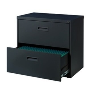 2 Drawer 30-inch Wide Lateral File - Charcoal