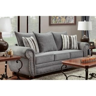 striped sofas living room furniture. American Furniture Classics Eden Platinum Stripe Sofa Rustic Sofas  Couches For Less Overstock