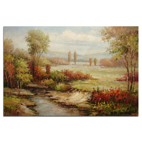""" The Farm"", Fine Oil Painting on 24""*36"" canvas - 24 x 36"