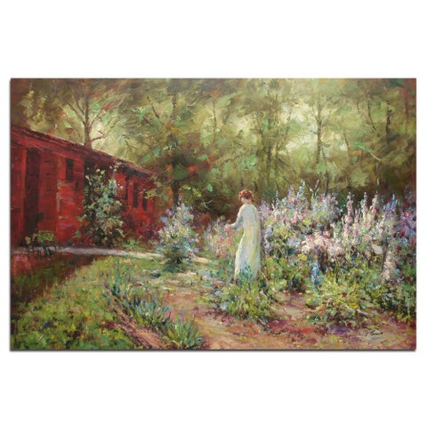 """ My Secret Garden"", Fine Oil Painting on 24""*36"" canvas - 24 x 36"