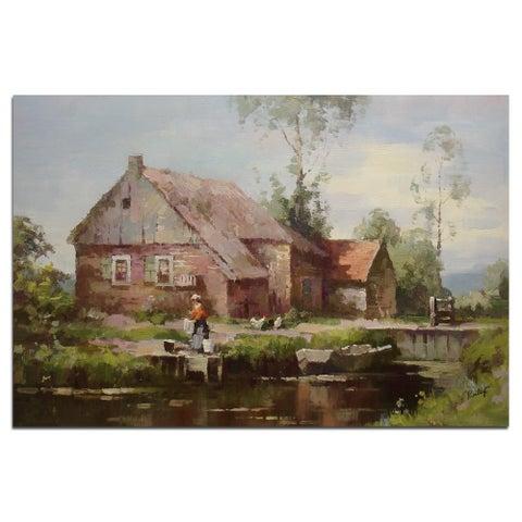 """""""Country Life"""", Fine Oil Painting on 24""""*36"""" canvas - 24 x 36"""