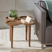 Ink+Ivy Oden Brown Wood Square End Table