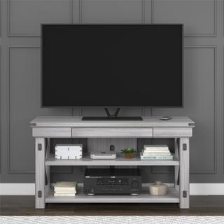 Avenue Greene Woodgate Rustic White Wood Veneer TV Stand for TVs up to 50 inches